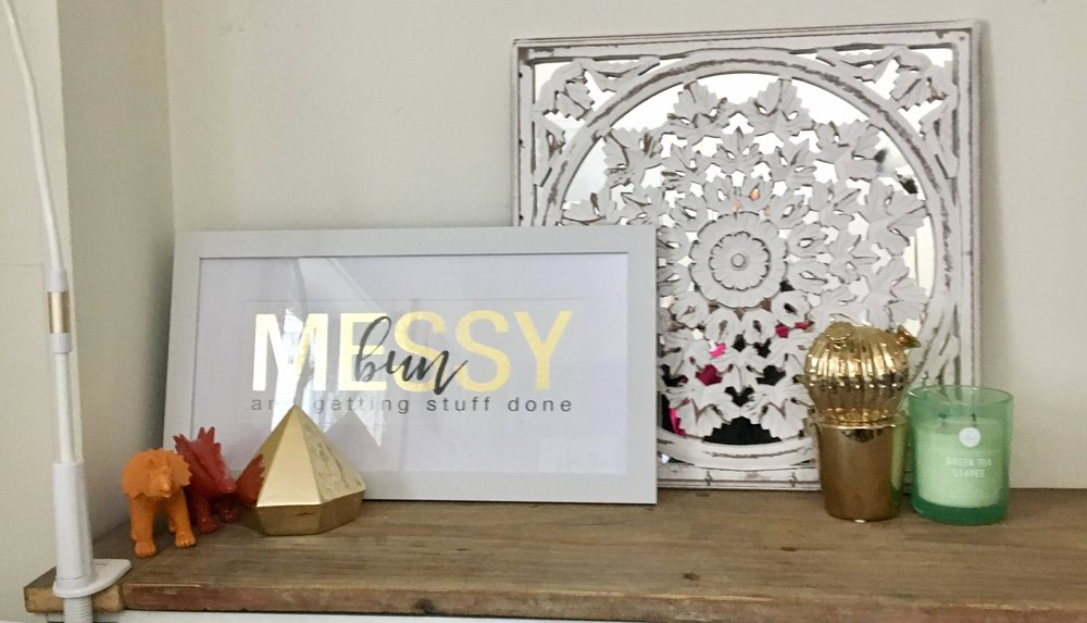 Catherine McGuire Office Studio Redecorating Gold Accents