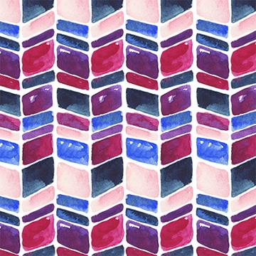 Watercolor geometric chevron pattern