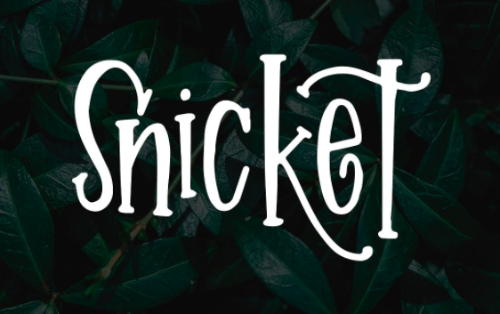 Snicket Font by On the Spot Studio on Creative Market