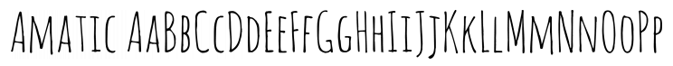 Amatic Font by Vernon Adams on FontSquirrel