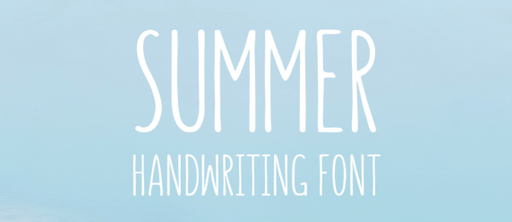 Catherine McGuire Illustrations Blog Post: Summer Free Font
