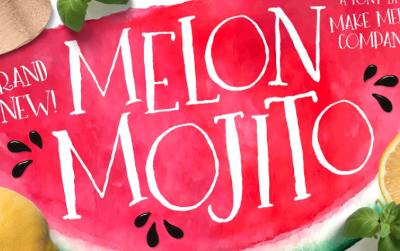 Melon Mojito Font by Callie Hegstrom on Creative Market