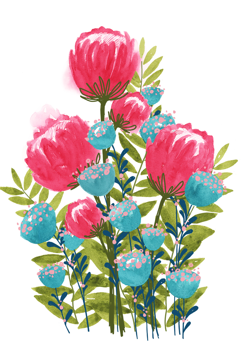 Watercolor Protea Floral Design