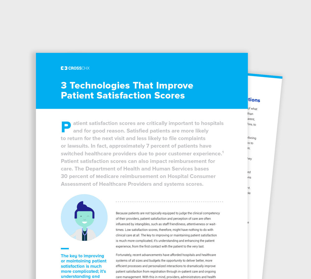 WHITE PAPER 3 Technologies that improve patient satisfaction scores READ >