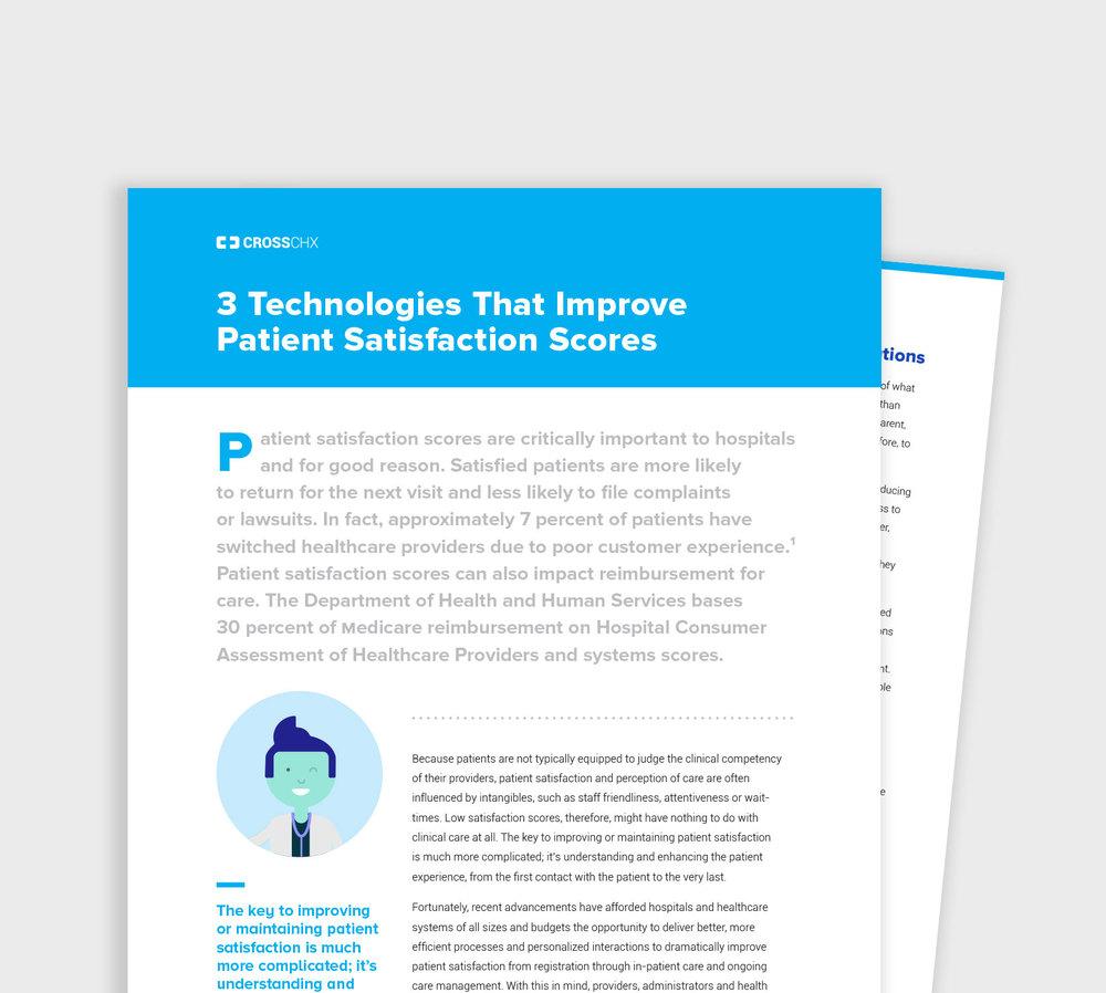WHITE PAPER 3 Technologies that improve patient satisfaction scores READ >