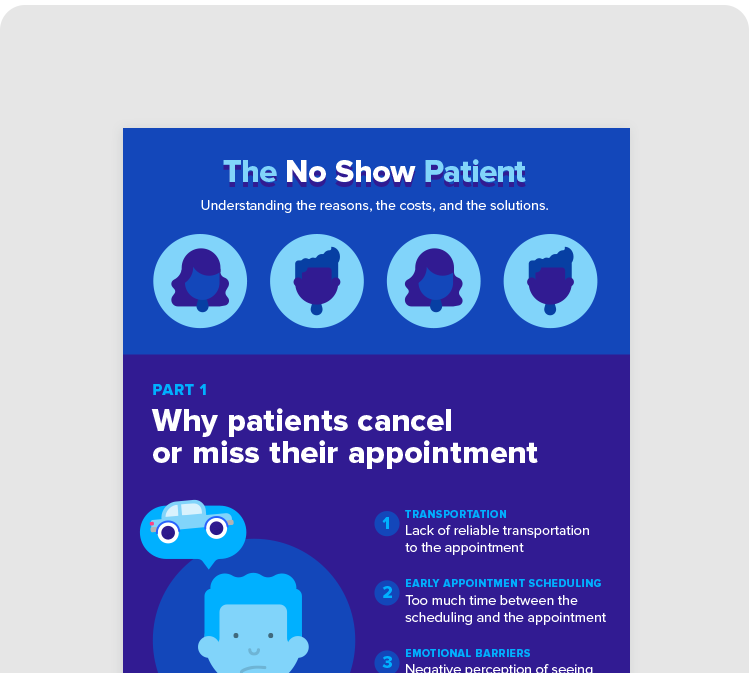 INFOGRAPHIC Why patients cancel or miss their appointments READ >