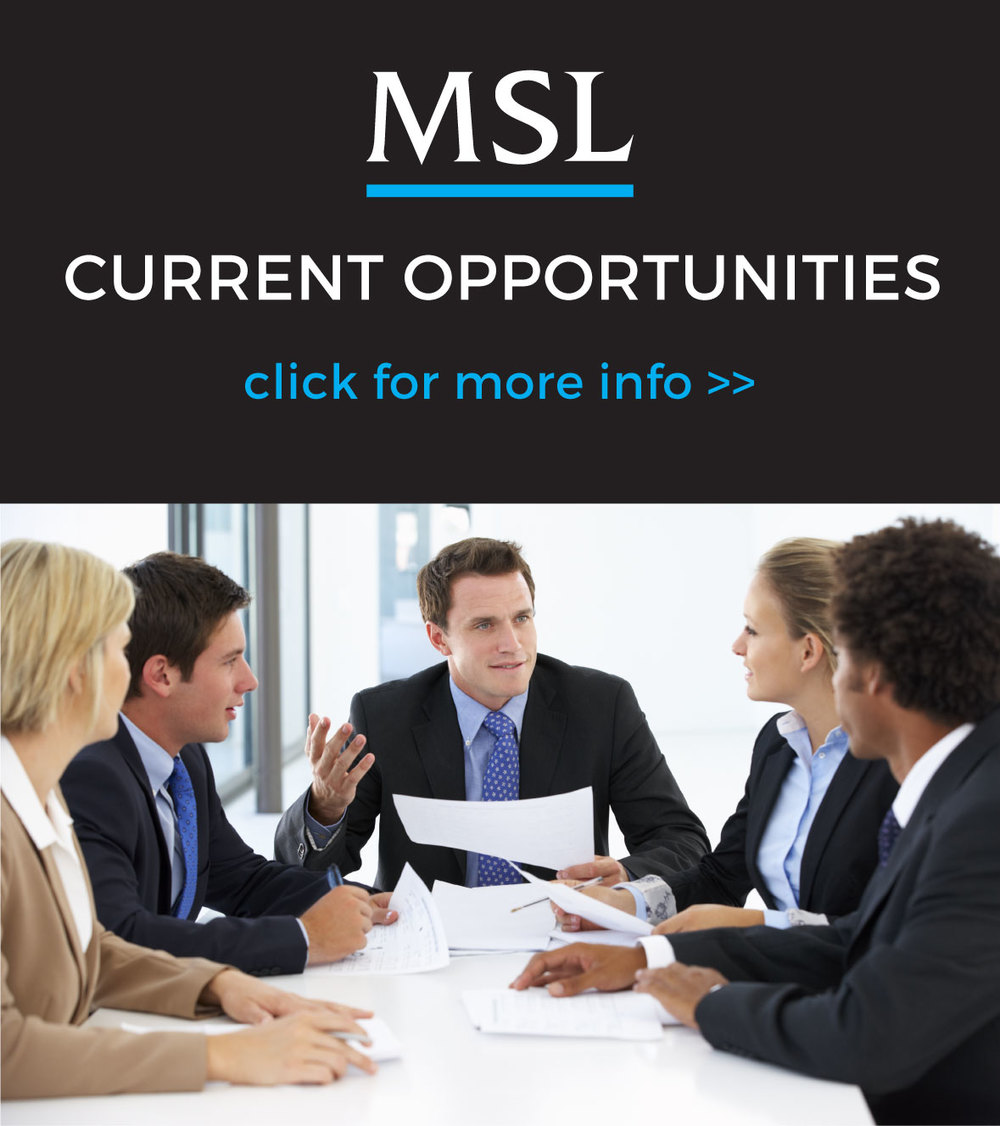 MSL JOB OPENINGS