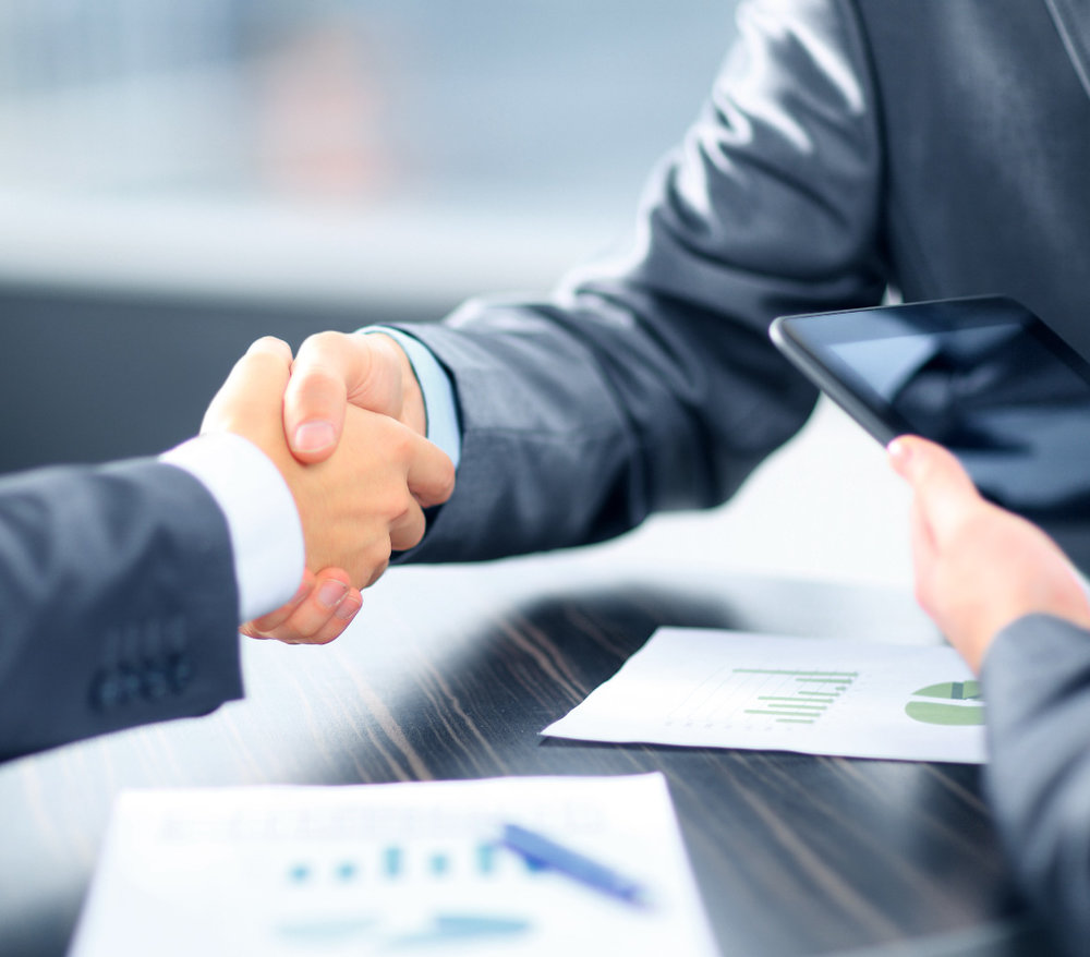 Corporate Businessmen Handshake