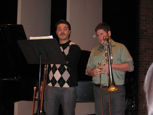 With Massimo La Rosa, Principal Trombone, Cleveland Orchestra.