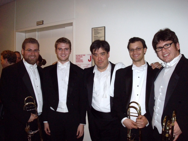 Juilliard Low Brass with Alan Gilbert of NYPhil after Mahler 9