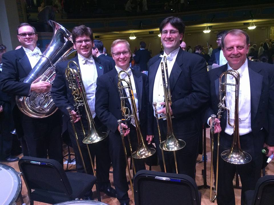 LPO Low Brass with guest Steve Menard (University of North Texas) after Mahler 2.