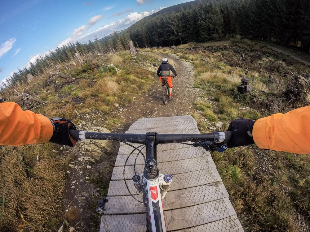 """Last weekend hunting down @orihe at #Llandegla - this is one of the best descents on the trail as we head downwards for a good KM at least."""