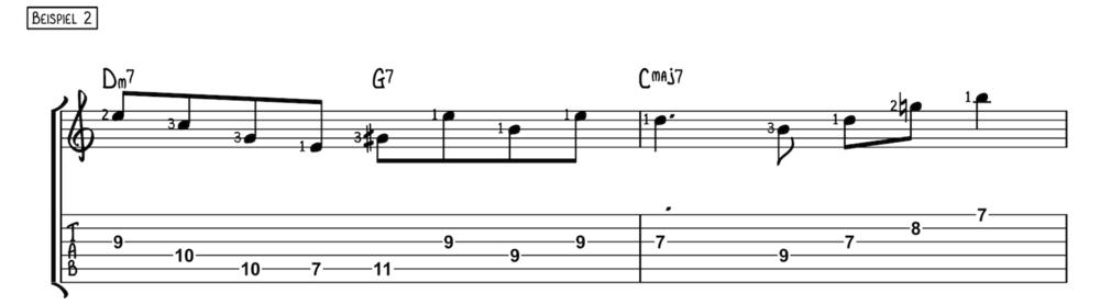 Mit Dreiklängen über Akkorde improvisieren Beispiel 2