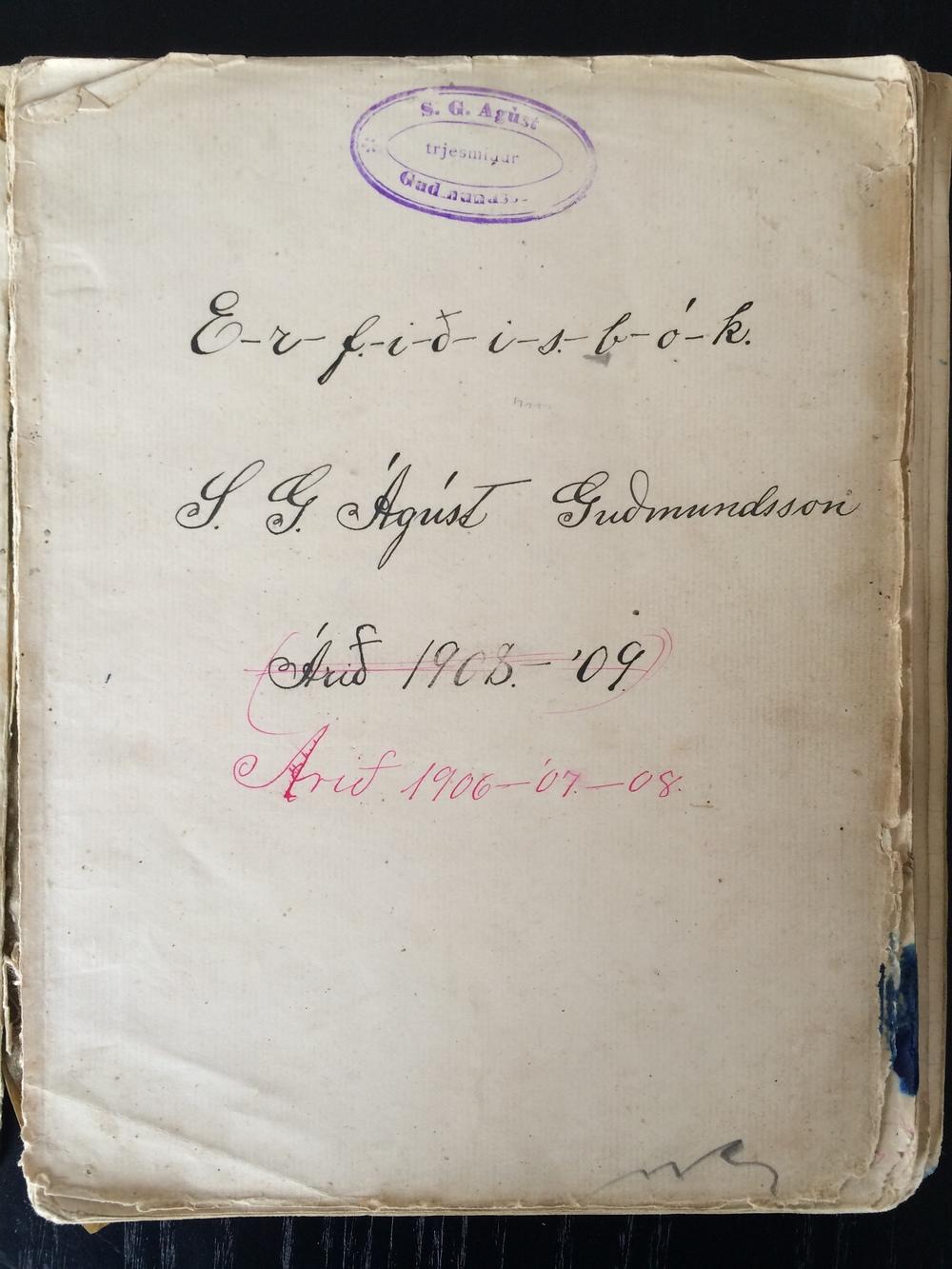 """Erfiðisbók - """"book of hard work"""""""