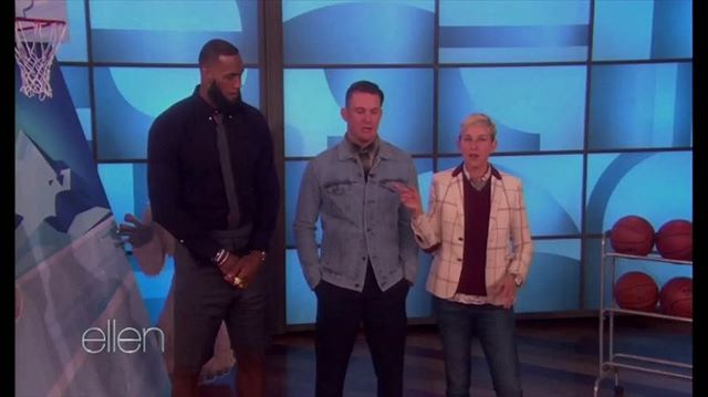 Taking shots   making shots. @kingjames x @theellenshow x @channingtatum x @bornandbred is the Murderers' Row of mini monster basketball.