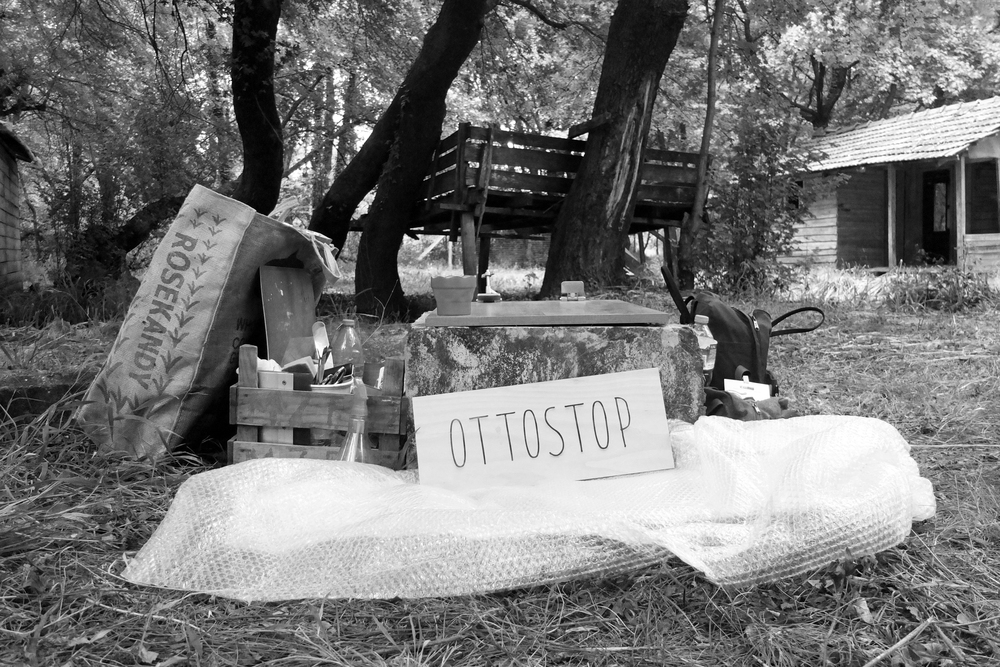 The outdoors Ottostop studio.... back-breaking but jolly good fun working in the forest... need to watch out for tics though :-/