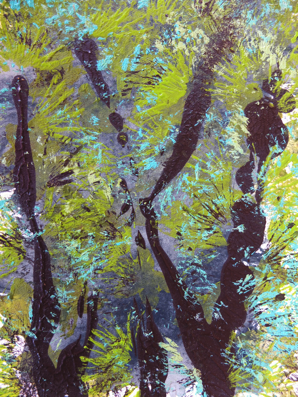 Another mini mono-print inspired by the wilder Liquidambar forest which sits close to Köyceğiz town centre.