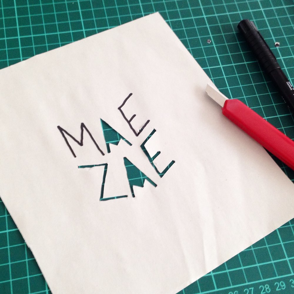 Paper stencils ; MaeZae in Karakoy will be Ottostop's Istanbul Workshop home in September 2016.