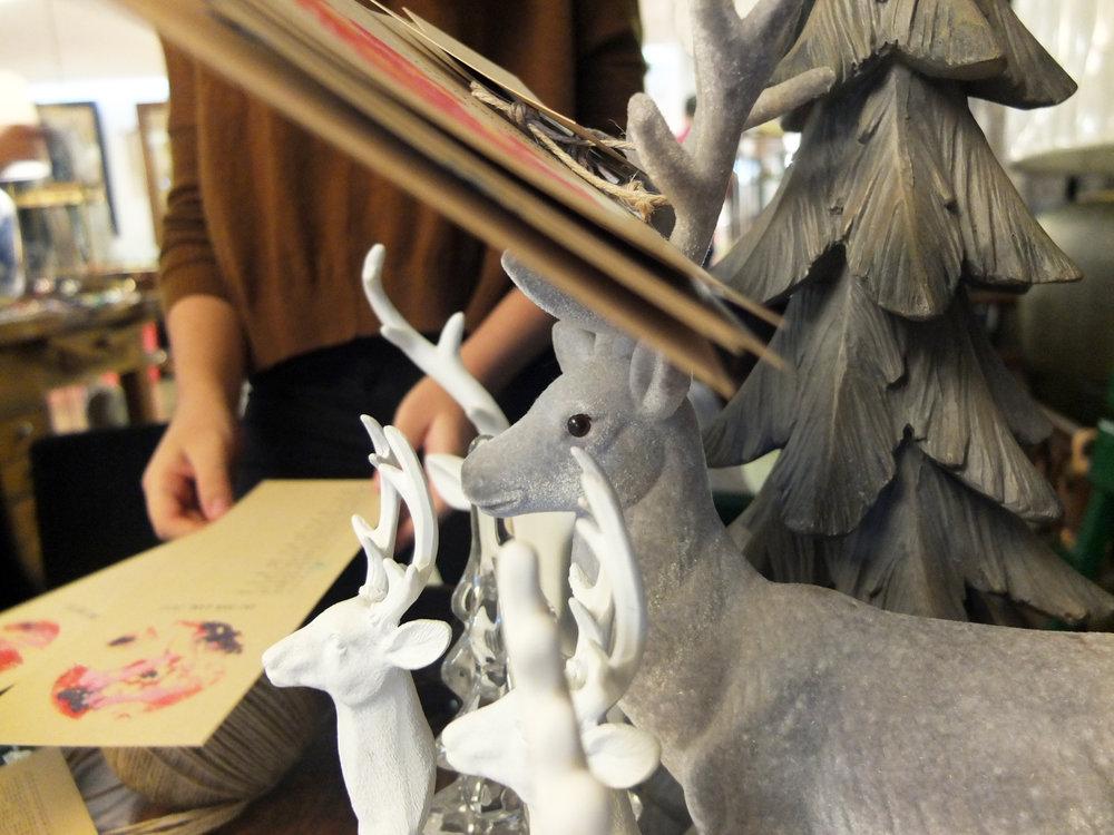 Impromptu reindeer drying rack - so inventive!