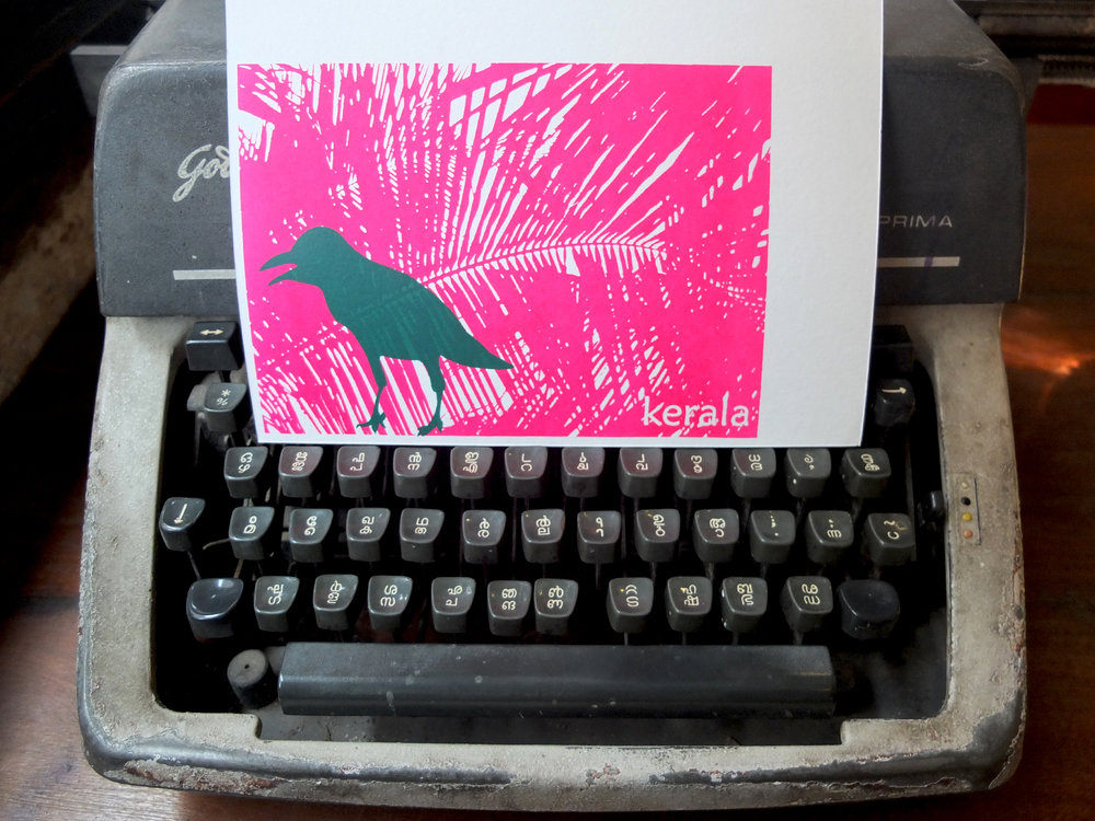 Crow on hot pink!