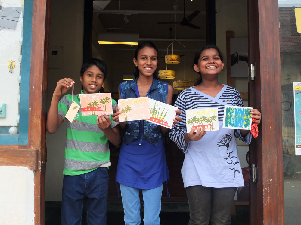 Eric, Jennifer and Meenu proudly show off the results of spending Republic Day learning new skills!