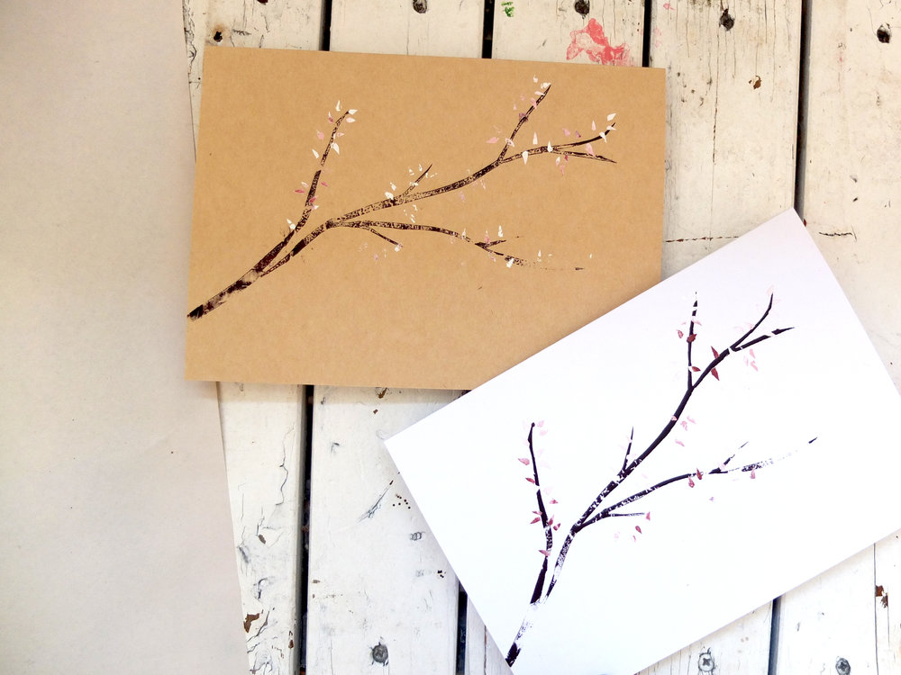 Beautiful, delicate, hand cut cherry blossom by Vicky E.
