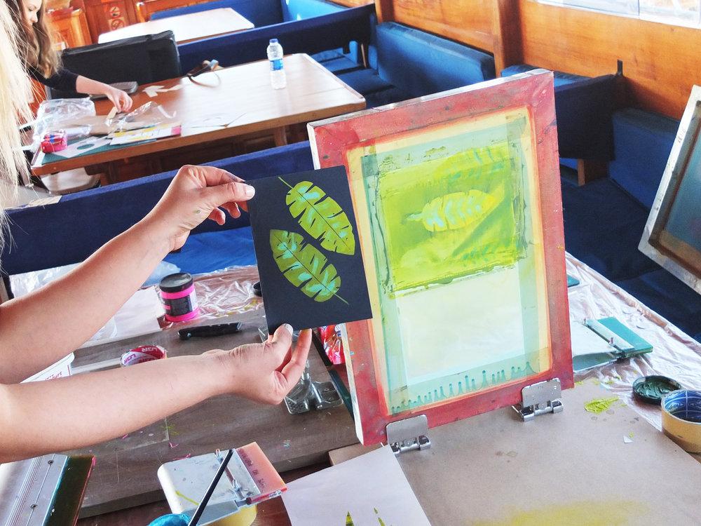 Monoprinted Palmiye aboard Karen V gulet, Bodrum!