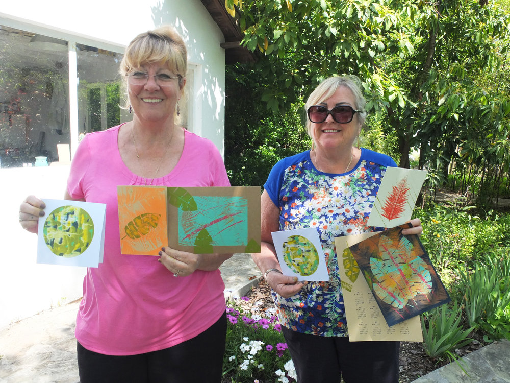 Alison & Karen, lovely ladies and fabulous work! What a colourful & sunny day!