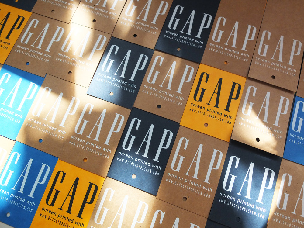 Bookmarks pre-printed with the GAP logo, ready for ENKA's fun-day.