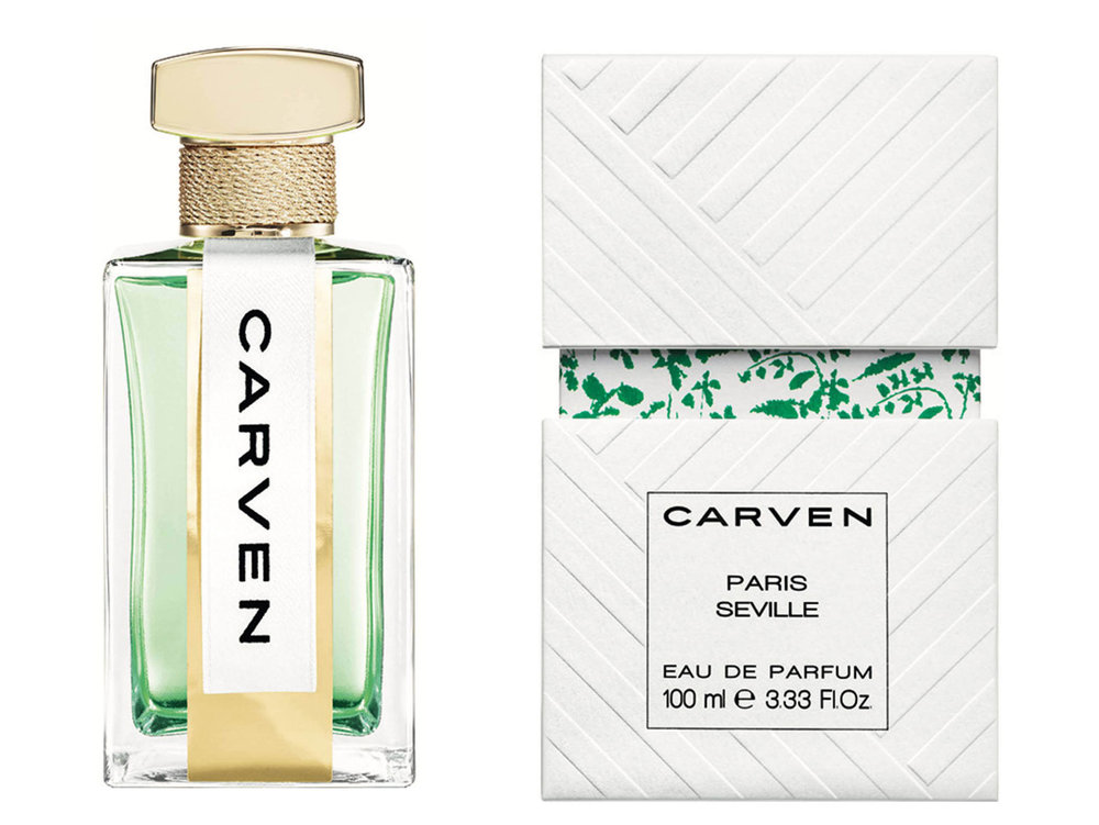 Carven - Paris Séville parfum. Groen, citrus en bloemengeur.