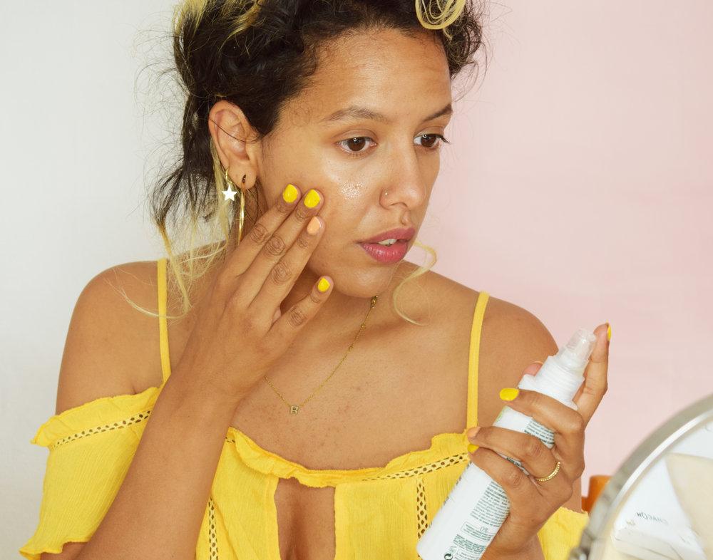 4. reinig je huid