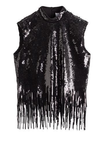 Black Sequin Top - 69€