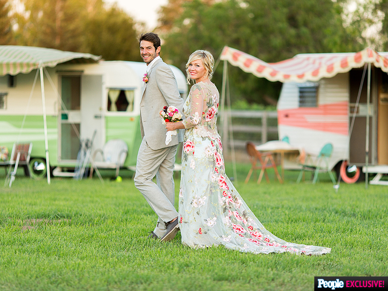 A couple of our vintage camper trailers set the mood for Jenny Garth's fairytale camp inspired wedding in the gorgeous Santa Ynez Valley.