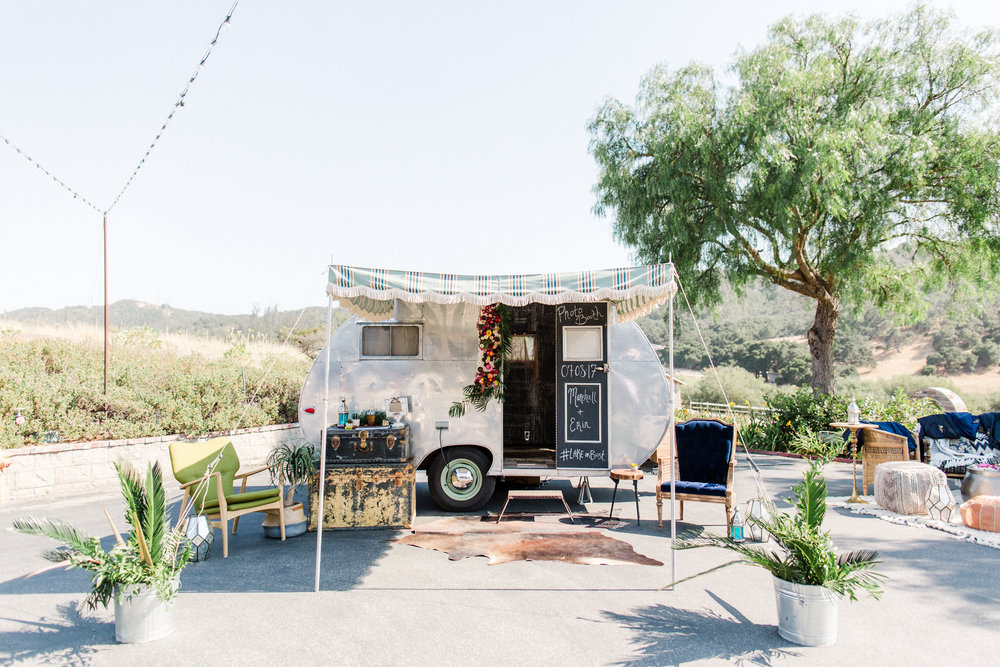 We converted our 1953 Crown trailer into a vintage photo booth! This photo booth on wheels adds a fun and unique spin to any wedding or event!