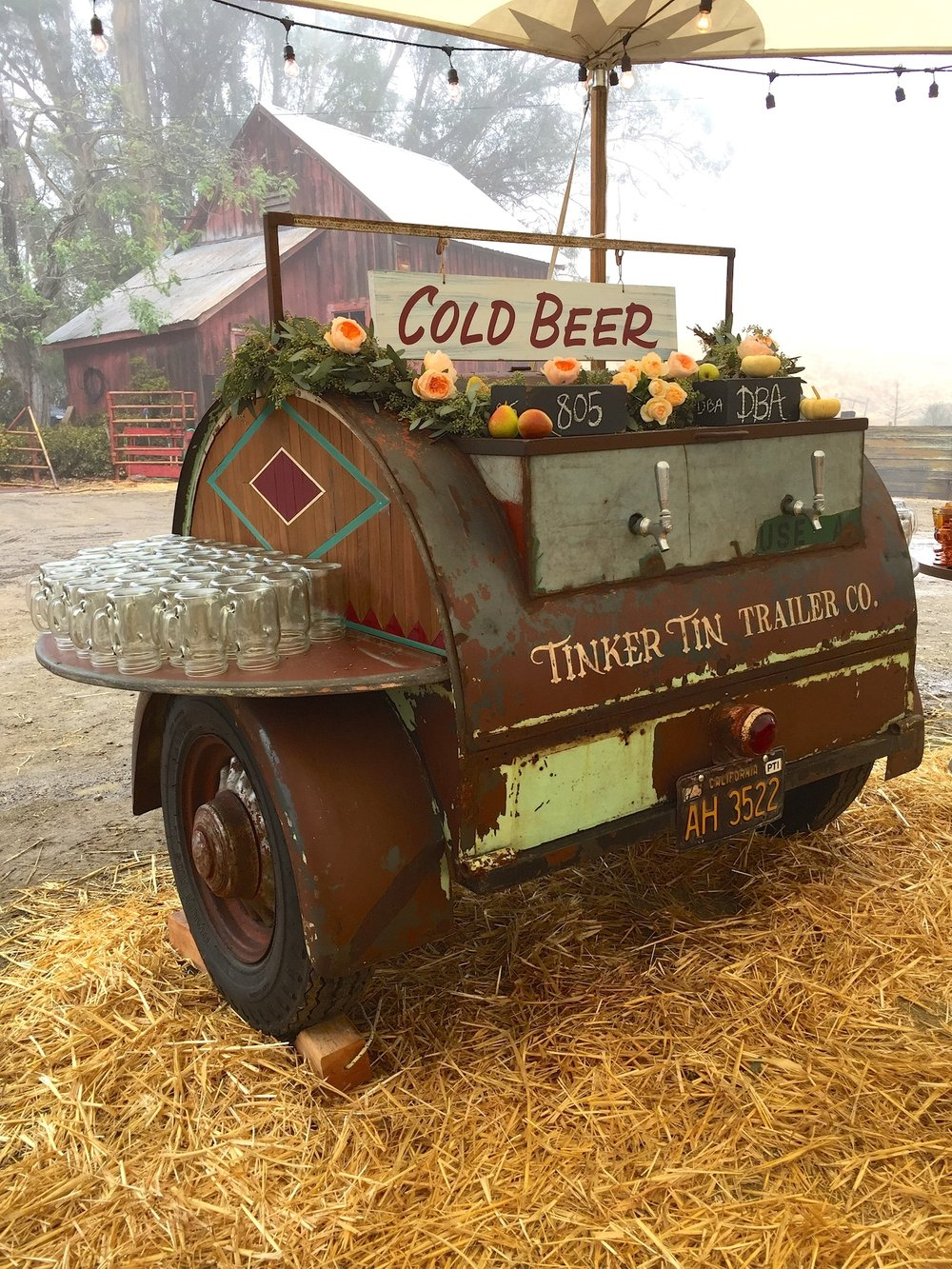 "This rare 1948 Barrel is one of only 3 known to exist! We converted this unique camper into a one-of-a kind ""serve yourself"" style beer trailer complete with 2 tap handles, holding capacity for 2 full size kegs, built-in ice chest on tongue of trailer for grab-n-go beverages, and drop down shelving on the side of the trailer perfect for placing glassware or drink dispensers!"