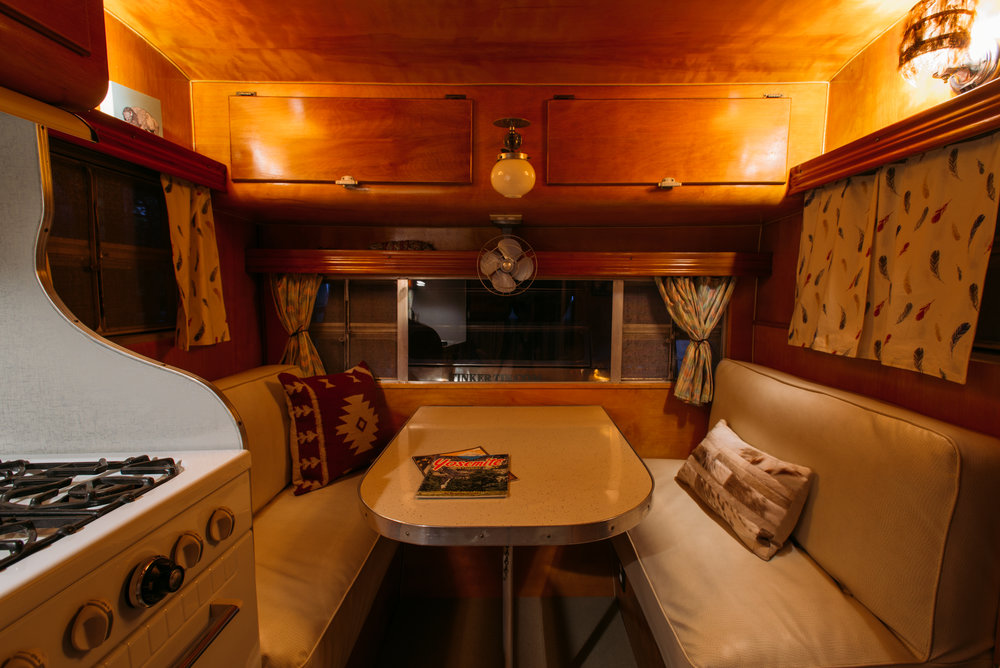 Ajoa Vintage Trailer Interior Photo
