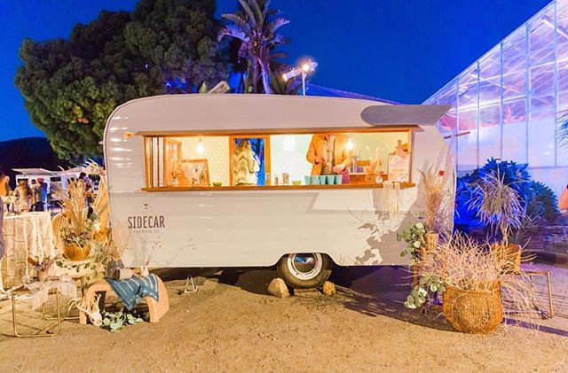 Repost from @sidecarcocktailco of the Shasta bar trailer all decked out at this years Jam event 🌵! We are headed back to the Orchid Farm this weekend and can't wait to celebrate Mariah & Blair ... plus stare up at the stars through that big beautiful green house roof✨!!📸 James + Jess!  #vintagetrailer #craftcocktails