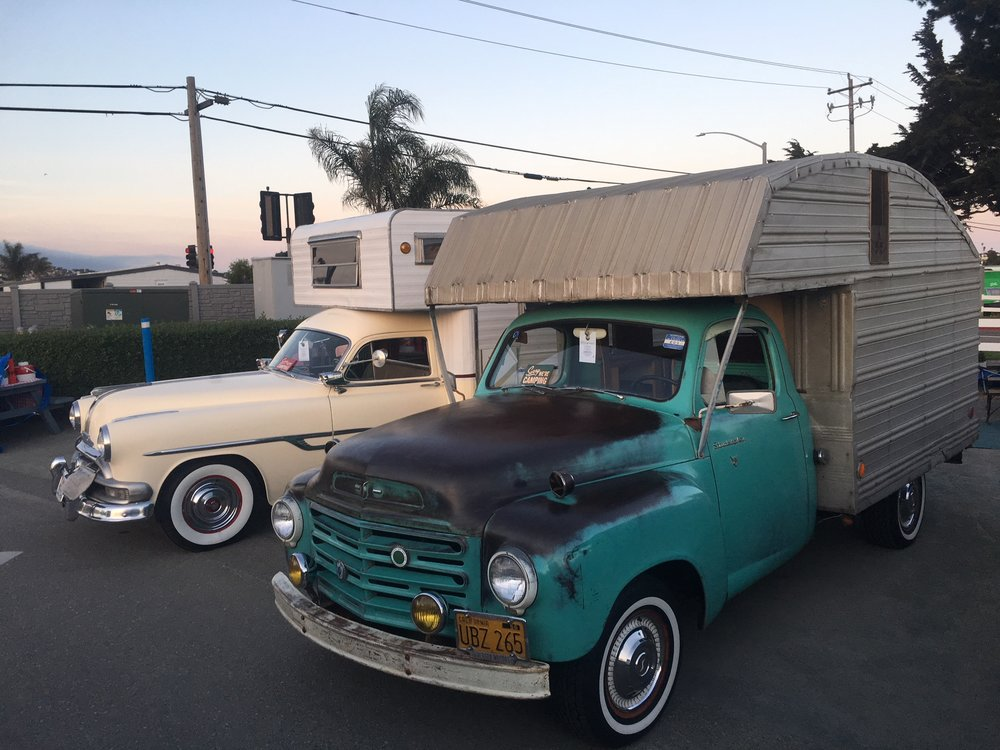 Twinning with a couple of vintage truck campers!