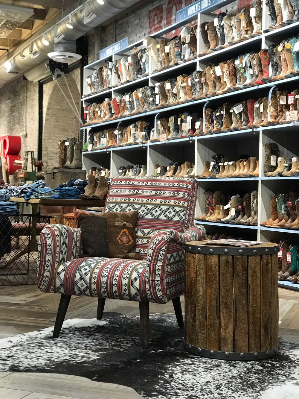 Styled Lounge in Boot Barn Nashville Store