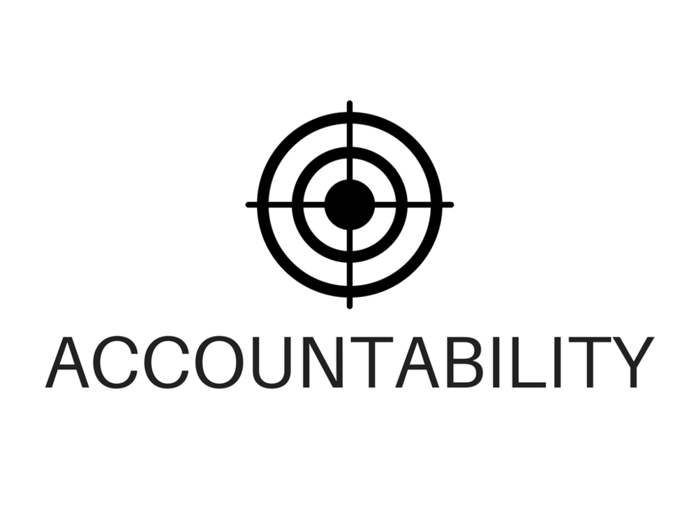 goals are rarely realized or REPlicated without ACCOUNTABILITY, ASSESSMENT, and recognition.