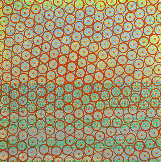 "Cadence    acrylic on panel   12 X 12""   2010"