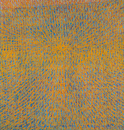 "Mandala-la   oil on panel 40 x 38"" 2007"