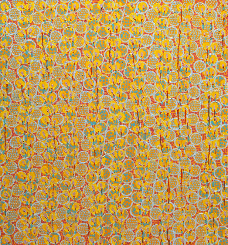 "Upstream    oil on panel 30 X 28"" 2009"