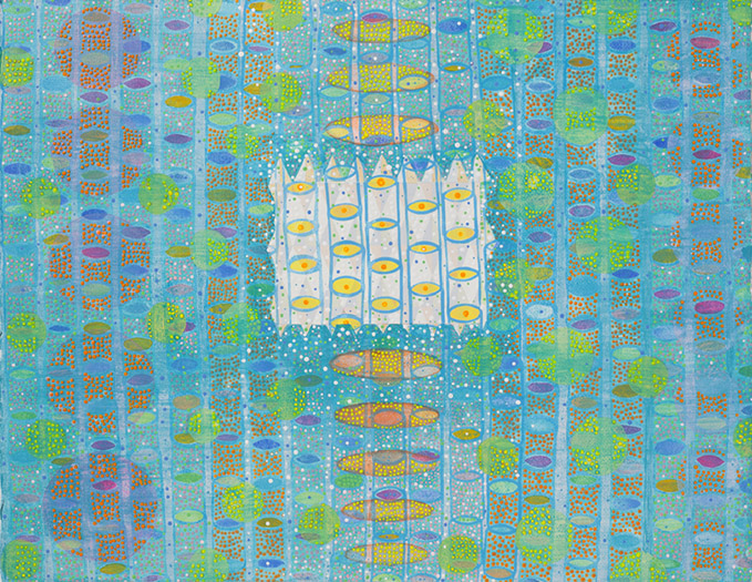 "Communion   mixed media on paper 20 x 26"" 2012"