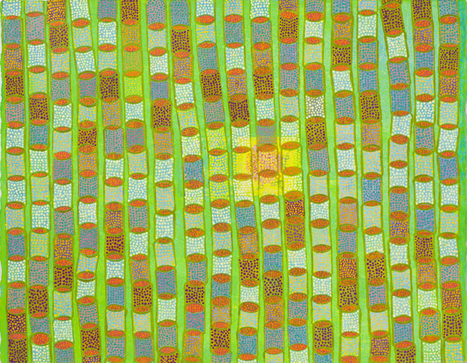 "Come Spring   mixed media on paper 20 x 26"" 2012"