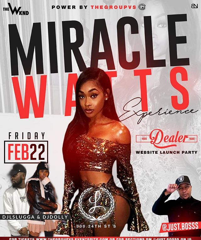 The only move on Friday night 🔥 Pull up & have a good time with @miraclewatts00. See you soon! 😼