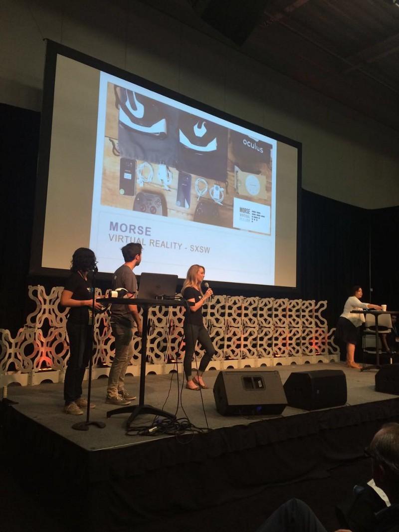 The Morse VR team presenting at the International Showcase!