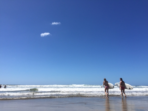 Surfing with Scout at Playa Guiones