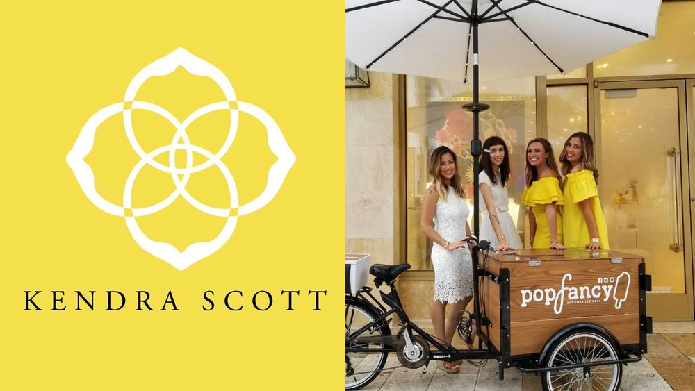 Popfancy catering Kendra Scott