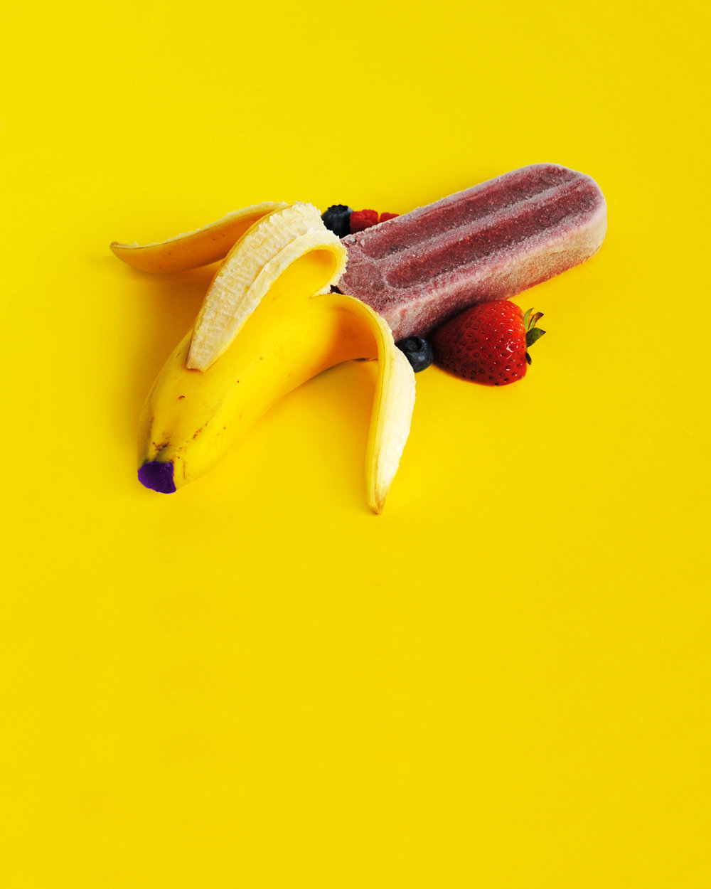 Popfancy Banana Berry Smoothie Popsicle